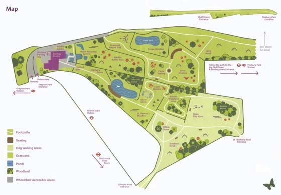 illustrated map of Gillespie Park